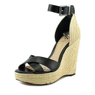 Vince Camuto Maurita Women  Open Toe Leather  Wedge Sandal