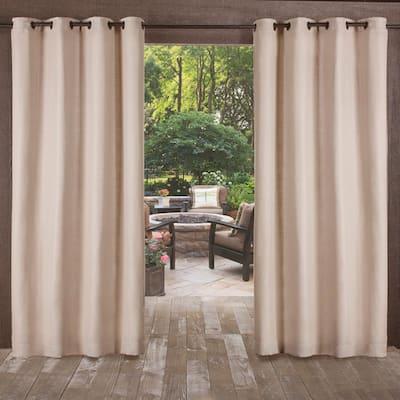 ATI Home Delano Indoor/Outdoor Grommet Top Curtain Panel Pair