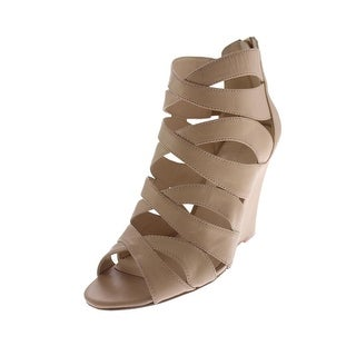 Nine West Womens Cronin Wedges Leather Strappy
