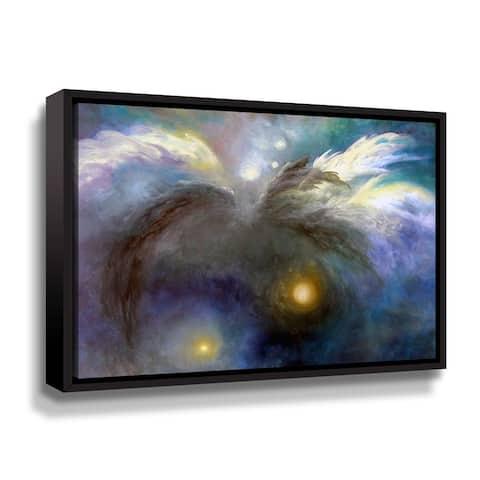 Cosmic Flight Floater Framed Canvas