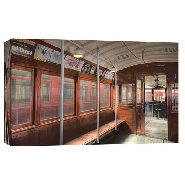 """PTM Images 9-101987 PTM Canvas Collection 8"""" x 10"""" - """"Trolley 5"""" Giclee Transportation Art Print on Canvas"""