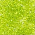 Toho Round Seed Beads 8/0 4 'Transparent Lime Green' 8 Gram Tube - Thumbnail 0