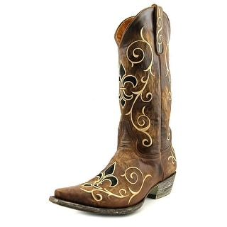 """Old Gringo Evelyn 13"""" Men  Pointed Toe Leather Brown Western Boot"""