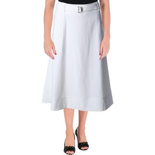 Calvin Klein Womens A-Line Skirt Woven Belted (2 options available)