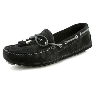 Cole Haan Grant Driver Moc Women Moc Toe Suede Black Loafer