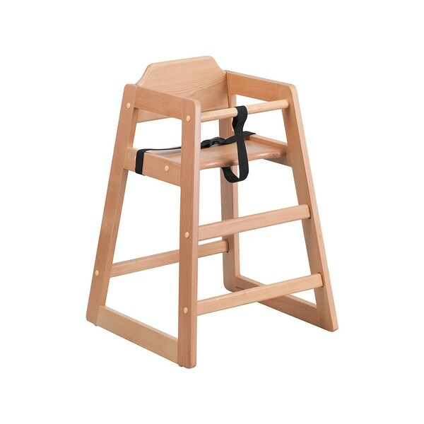 Offex Hercules Series Stackable Natural Baby High Chair - N/A