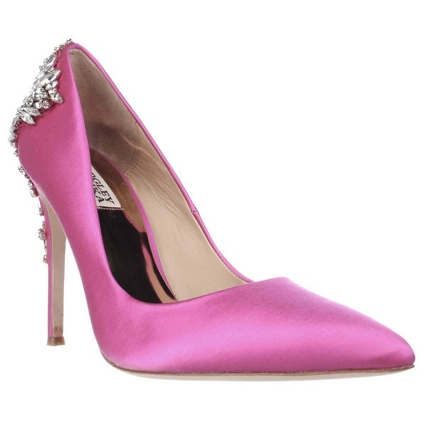 Badgley Mischka Gorgeous Beaded Dress Pump, Carmine Pink