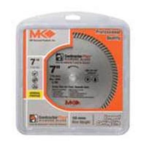 Mk Diamond 1060946 Contractor Plus 166999 Turbo Rim Circular Saw Blade, 4.5 in. dia. x 0.08 in T, 0.62 - 0.87 in Arbor