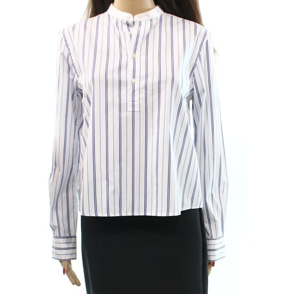 7260f27f45c8bf Shop Polo Ralph Lauren NEW White Womens Size 8 Striped Long-Sleeve Blouse -  Free Shipping Today - Overstock - 17811632