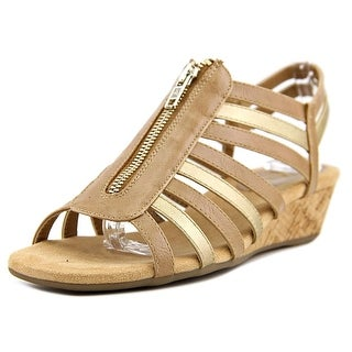 A2 By Aerosoles Yetaway Open Toe Synthetic Wedge Sandal