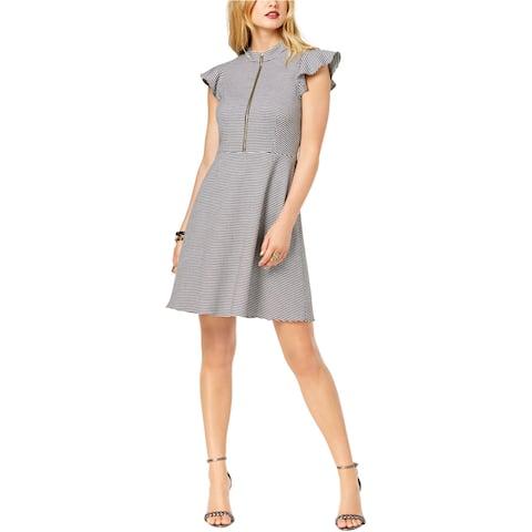 Rachel Zoe Womens Flutter Sleeve A-Line Dress