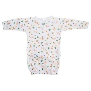 Bambini Baby Unisex Unisex Print Rib Knit Cotton Mitten Cuffs Gown