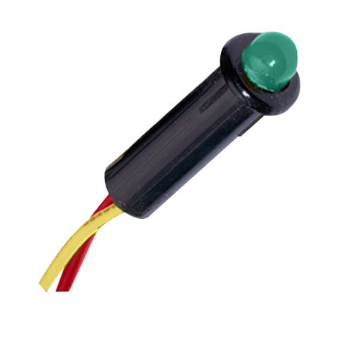 Paneltronics led 240 vac 1/4 inch green