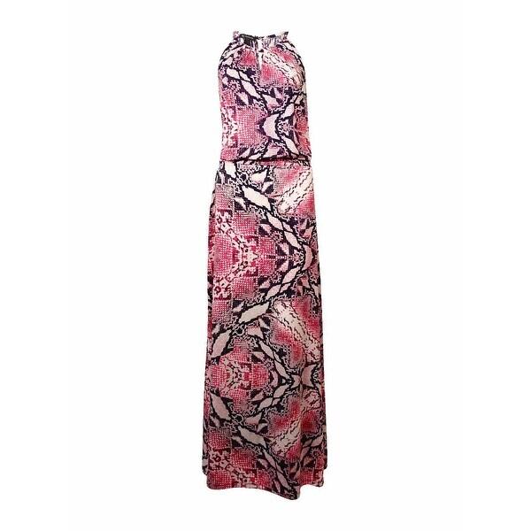 INC International Concepts Women's Halter Maxi Jersey Dress
