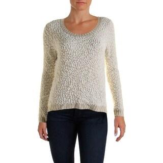 Almost Famous Womens Juniors Pullover Sweater Slub Knit