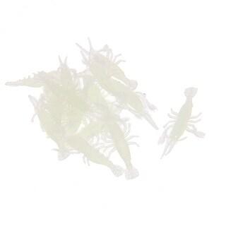 Unique Bargains 16 Pcs 2.2 Shrimp Shaped Soft Silicone White Fishing Lure Fish Bait 0.8oz