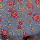 "Handmade 100% Cotton Floral Tablecloth 90"" Round Blue Red Pink - Thumbnail 2"