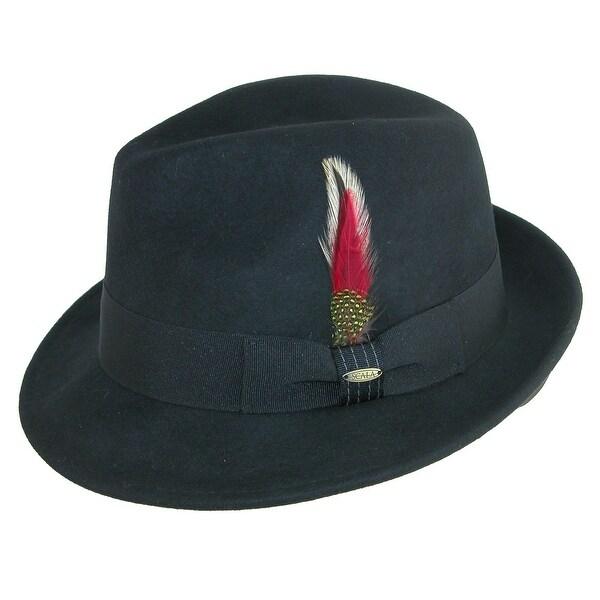 Shop Scala Classico Men s Water Repellent Snap Brim Fedora Hat ... 16cf4644f32e