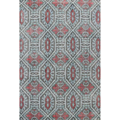 """Modern Geometric Abstract Oriental Wool Area Rug Hand-knotted Carpet - 7'9"""" x 9'9"""""""