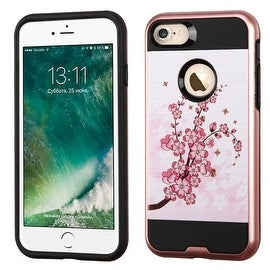 Insten Pink Spring Flowers Hard Snap-on Dual Layer Hybrid Case Cover For Apple iPhone 7