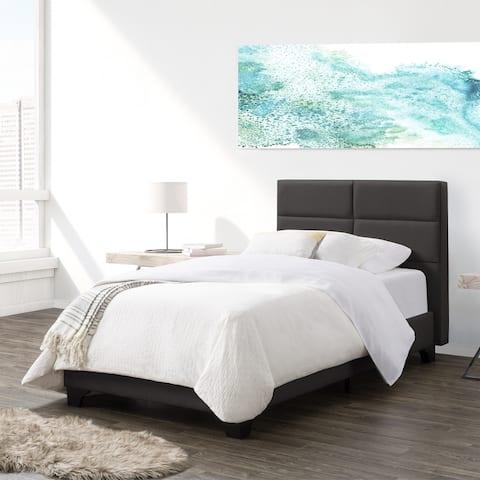Copper Grove Rubizhne Twin Upholstered Panel Bed Frame