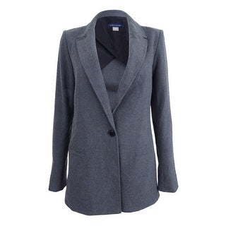 Tommy Hilfiger Women's One-Button Blazer (2, Grey) - Grey - 2