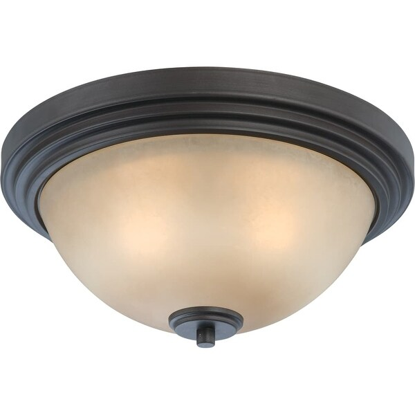 "Nuvo Lighting 60/4131 Harmony 2 Light 13-3/4"" Wide Flush Mount Bowl Ceiling Fixture - dark chocolate bronze"