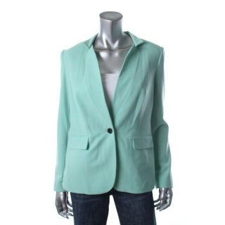 Vince Camuto Womens Downtown Oasis Boyfriend Blazer Seamed One-Button Blazer - 0