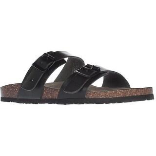 madden girl Brando Comfort Slide Sandals, Black