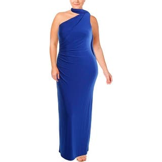Lauren Ralph Womens Evening Dress Full Length One Shoulder