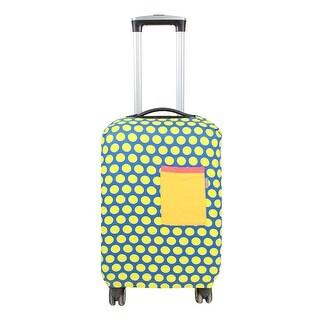 Unique BargainsLuggage Fabric Dots Pattern Washable Dustproof Cover 22 Inch SAFEBET Authorized