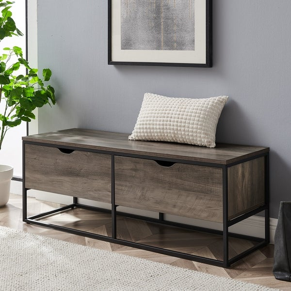 Carbon Loft 48-inch 2-Drawer Metal Base Entry Bench. Opens flyout.