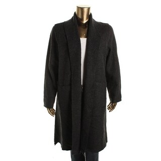 Eileen Fisher Womens Plus Open Front Loose Fit Coat - 2X