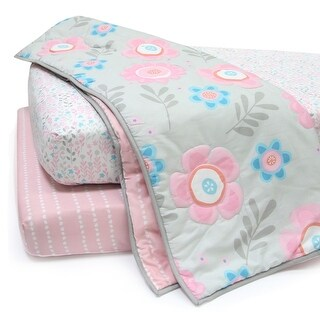 Lambs & Ivy Pink Layla Collection 3-Piece Starter Crib Bedding Set