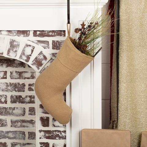 Festive Burlap Stocking