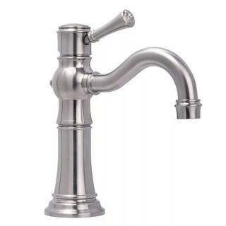 Miseno ML521 Santi-V Single Hole Bathroom Faucet - Includes Lifetime Warranty and Push Drain Assembl