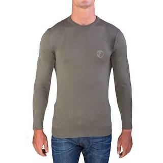 Versace Men's Crew Neck Sweater Forest Green