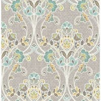 Brewster 1014-001810 Willow Grey Nouveau Floral Wallpaper