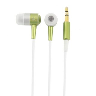 MP3 MP4 MP5 In Ear Headset Earphone Headphones Earbuds Oliver Green White 3.5mm