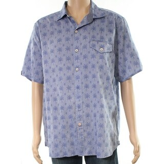 Tommy Bahama Mens Large Palm Tree Button Down Shirt
