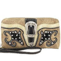 Aw-1107 Concealed Carry Buckle Western Wallet