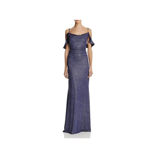0bc8c1d8f5 Shop Laundry by Shelli Segal Womens Evening Dress Metallic Full ...