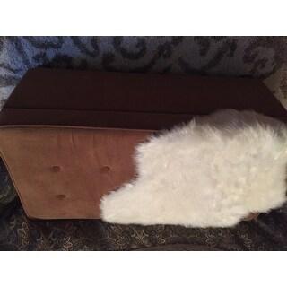 Golden Brown Micro-Suede Storage Bench