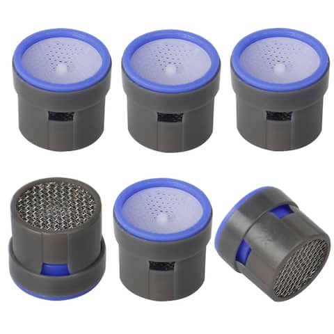 6pcs 14mm Plastic Faucet Aerator Insert Replacement Water Filter Accessory - 14mm Male, 6pcs
