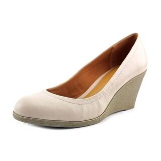 American Living Mikala Women Open Toe Synthetic Ivory Wedge Heel