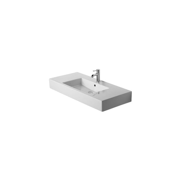 duravit 0329100087 vero 41 38 ceramic wall mounted bathroom sink with 3 - Wall Mount Bathroom Sink