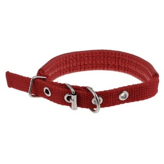Unique Bargains Metal Single Pin Pet Dog Puppy Neck Collar Red S Size