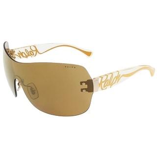 Ralph Lauren RA4106 106/6U Gold Single Lens sunglasses