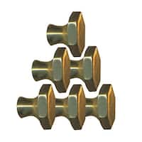 6 Cabinet Knob Bright Solid Brass 1 Dia | Renovator's Supply