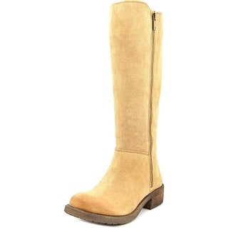 Lucky Brand Desdie Round Toe Leather Knee High Boot
